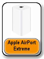 Apple AirPort Exreme Base Station button