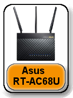 Asus RT-AC68U button - Netgear Nighthawk X6 AC3200 vs Asus RT-AC87U