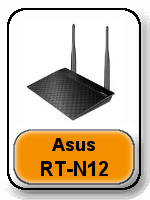 Asus RT-N12 button