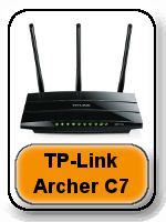 TP-Link Archer C7 AC1750 button