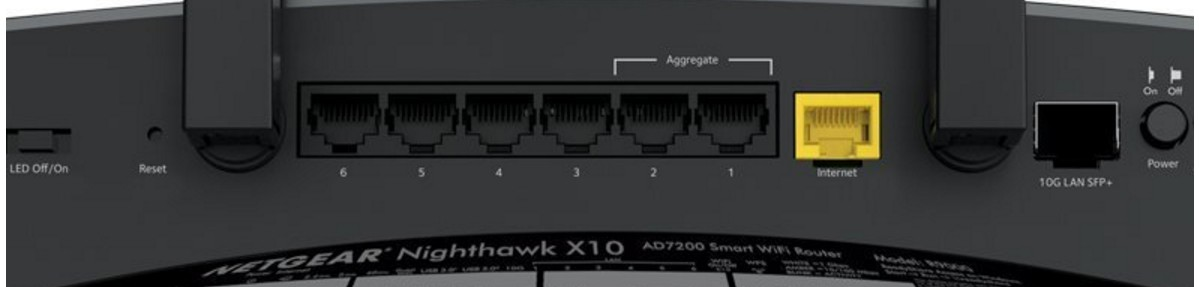 Netgear Nighthawk X10 R9000 SFP and  Ports