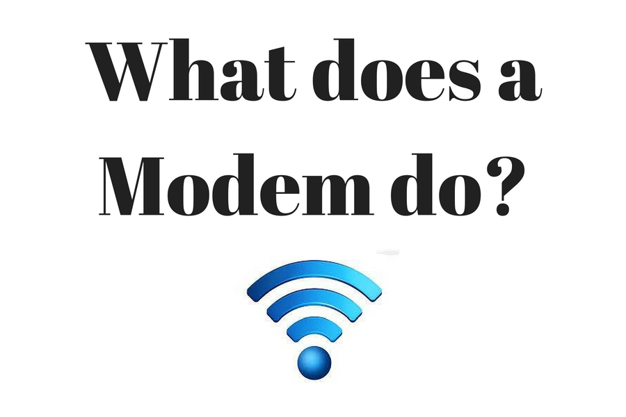 What does a modem do?