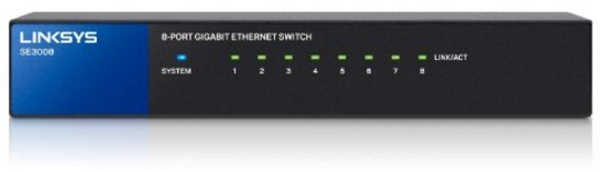 Linksys SE3008 8-Port Metallic Gigabit Switch