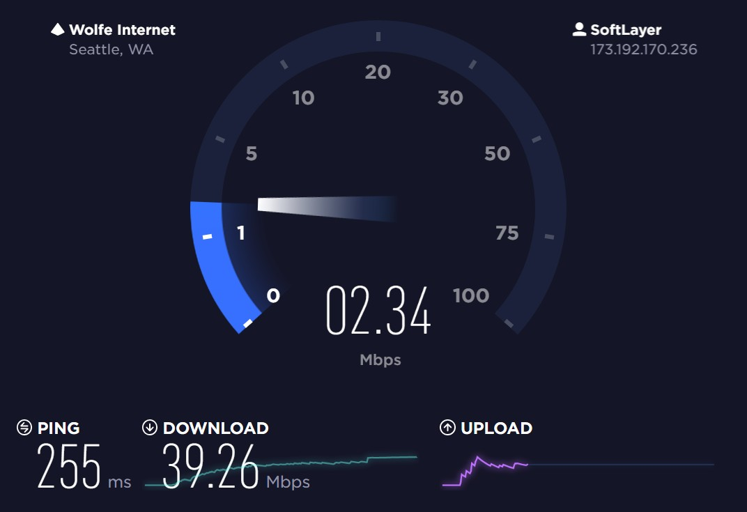 speedtest - for internet gaming test