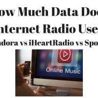 How Much Data Does Internet Music Use? (Pandora vs iHeartRadio vs Spotify)