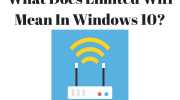 What Does Limited Wifi Mean In Windows 10?