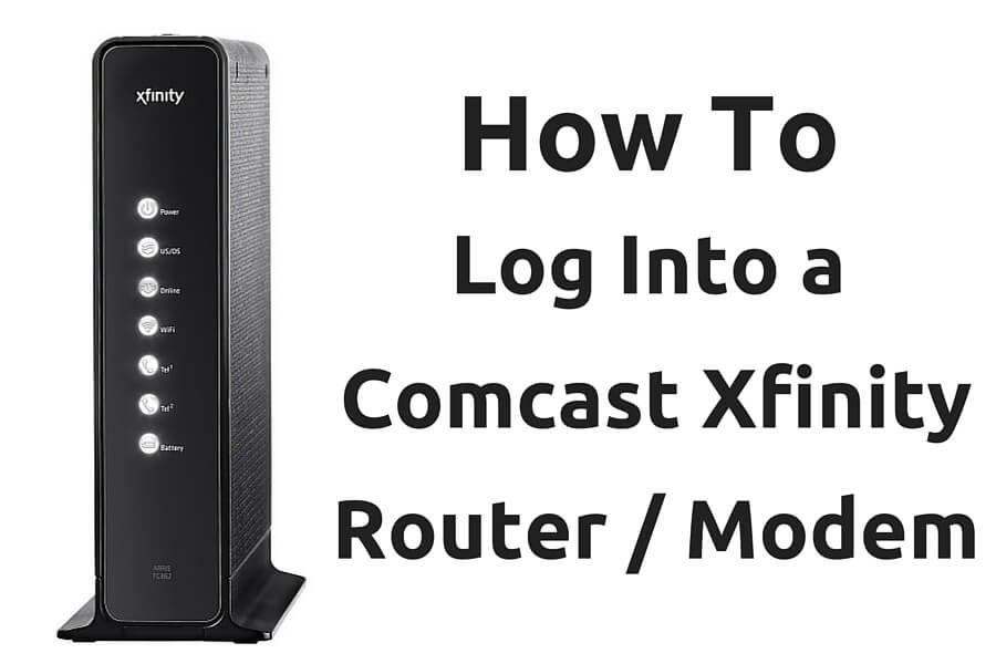 Login To A Comcast Xfinity Router Modem Comcast Router Ip