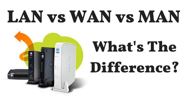LAN vs WAN vs MAN - Whats the difference