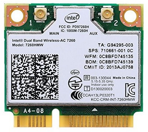 Bplus Intel Network 7260.HMWG Wifi Card