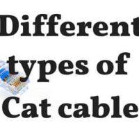 Difference Between Cat5 vs Cat5e vs Cat6 vs Cat6a Cables