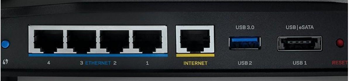 Linksys WRT3200ACM AC3200 MU-MIMO Wireless Router Ports