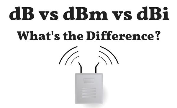 dB vs dBm vs dBi - The differences