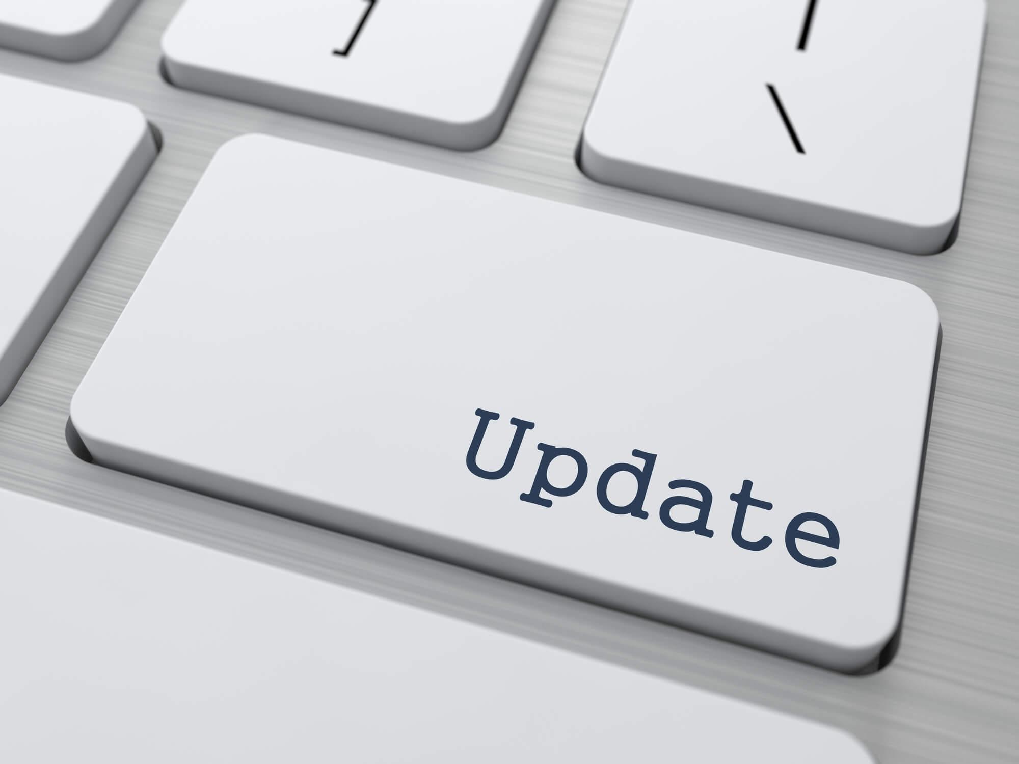 Update Software Firmware Button