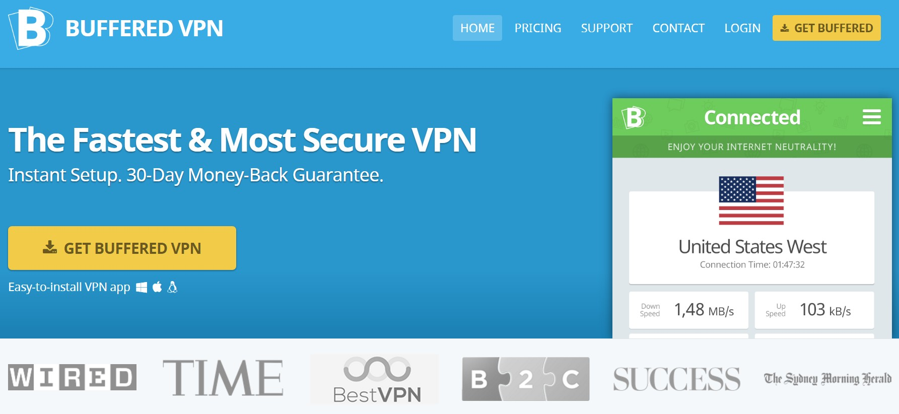 Buffered VPN Home Page - Best Gaming VPN