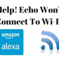 Help Me! Echo Wont Connect To Wi-Fi