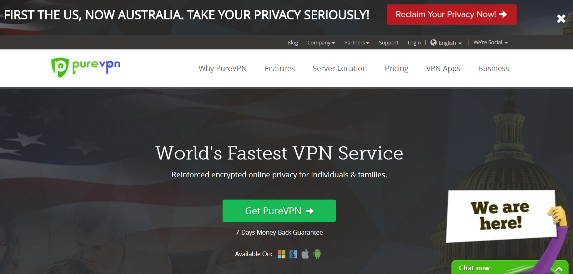 PureVPN Home Page - Best VPN For Streaming Video